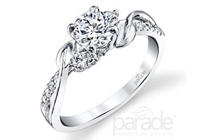 Parade Sidestone Diamond Engagement Ring