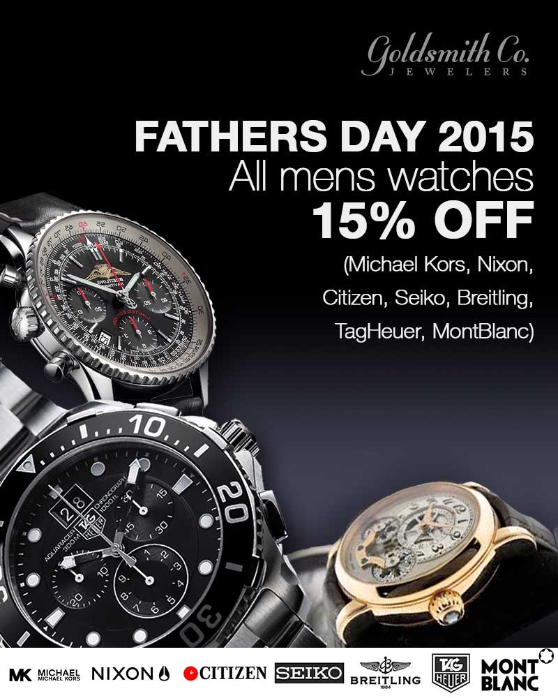 Fathers Day 2015 - All mens watches 15% off